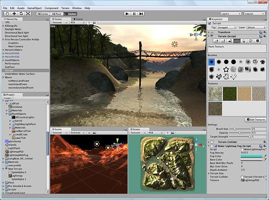 Editing a terrain with Unity3D