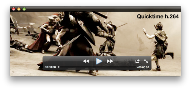 Video encoded with Quicktime h.264