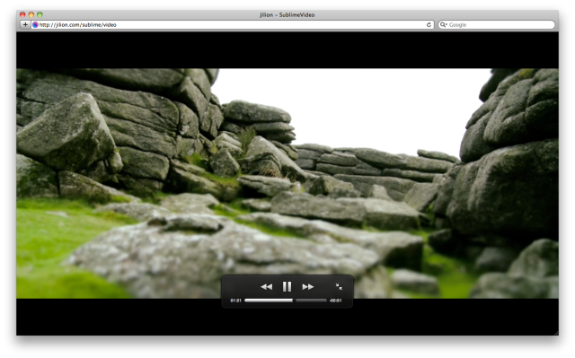 Full Browser SublimeVideo Video Player